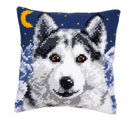 Wolf  im Mondschein